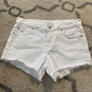 7 for all man kind white denim jean shorts size 24